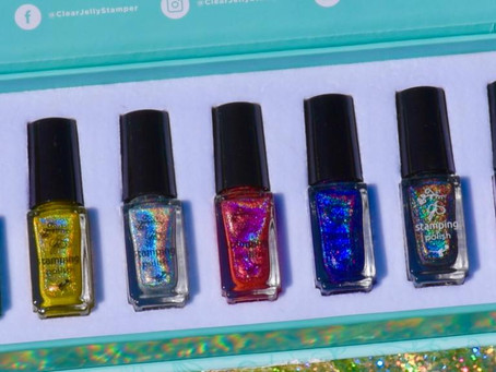🤩 HOLO STAMPING POLISH REVIEW AND SWATCHES 📀 Clear Jelly Stamper Nail Art (2020)