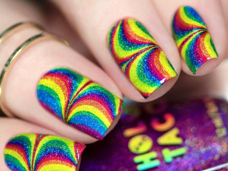 Holo Taco Rainbow Watermarble Design 2020