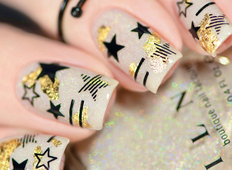 EASY STARS NAIL ART | Easy nail art with stickers by SoNailicious Boutique