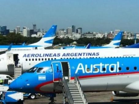 Aerolíneas Argentinas y Austral se fusionaran en una sola compañía aérea