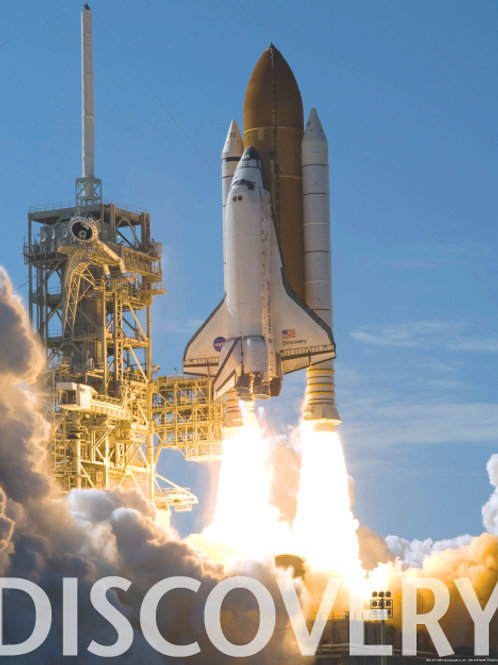 Discovery Shuttle Day Launch Poster