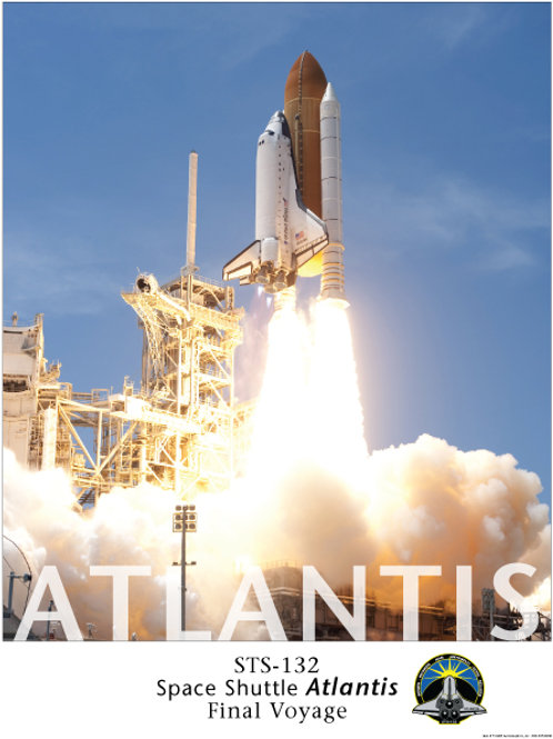 Atlanits Shuttle Day Launch STS-123 Poster