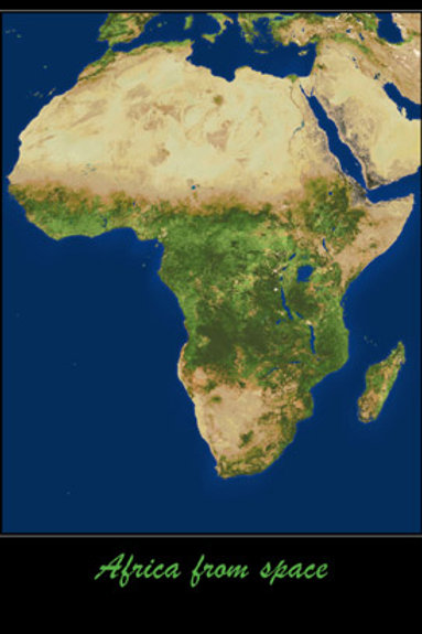 Africa From Space Poster