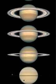 Saturn Changing of the Seasons Poster
