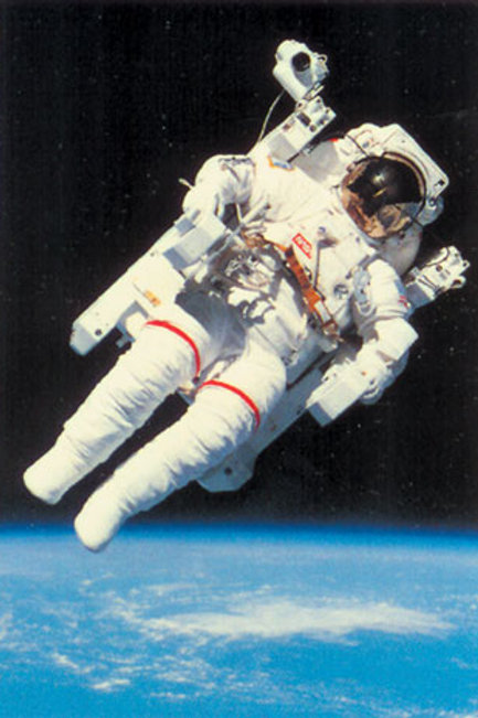 Man in Space - teatherless Poster