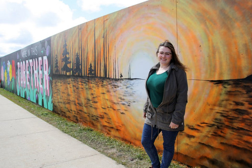 A mural I created in Collingwood during the COVID-19 crisis. Check the link to read the full article.    https://www.collingwoodtoday.ca/coronavirus-covid-19-local-news/mural-gives-us-all-something-positive-to-talk-about-says-artist-2350391