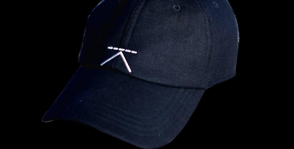 หมวกแก๊ปผ้าลินิน ผู้ชาย/ ผู้หญิง Unisex Linen cap - สีกรม Navy - ปรับส