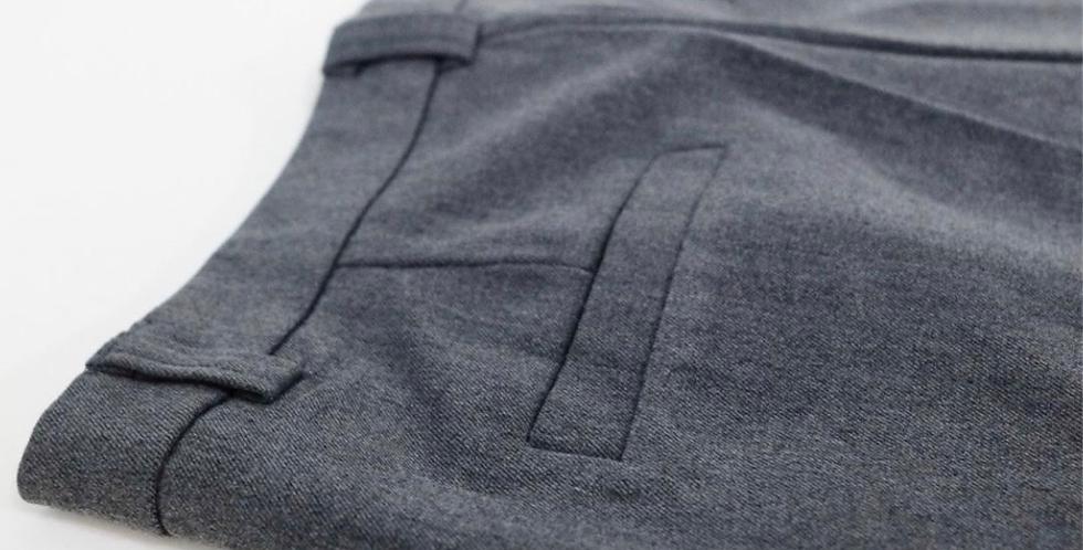 กางเกงขาวยาวเอวสูง Cotton trousers
