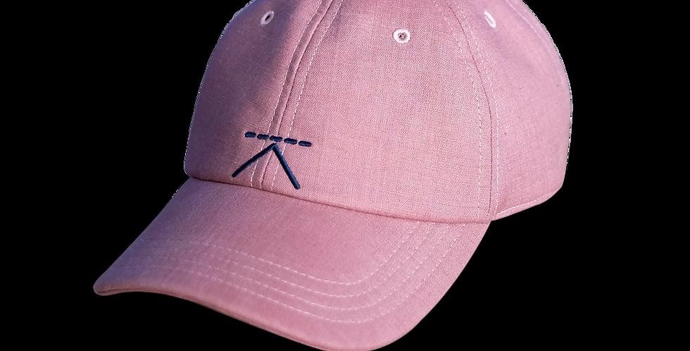 หมวกแก๊ปผ้าลินิน ผู้ชาย/ ผู้หญิง Unisex Linen cap - สีชมพู Pink - ปรับส
