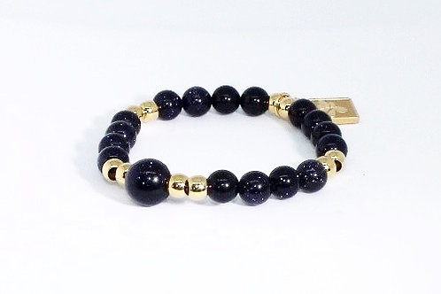 Zion Beads - Blue Goldstone