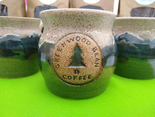Handmade Greenwood Bean Coffee Mug