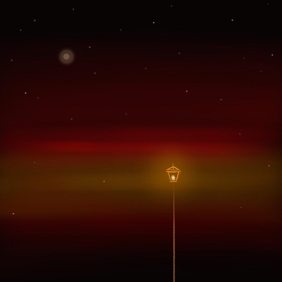 Starry Night 1_Red Guiding Light