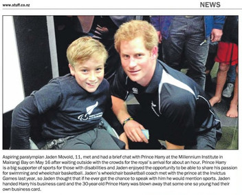 Meeting Prince Harry