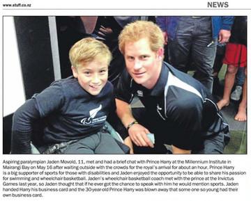 Meeting Prince Harry