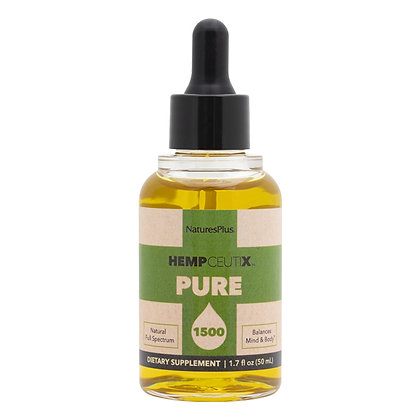 HempCeutix Pure Hemp Oil, 1500 mg/ 50 ML, Nature's Plus