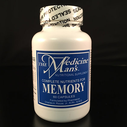 Complete Nutrients for Memory, 60 capsules, The Medicine Man's
