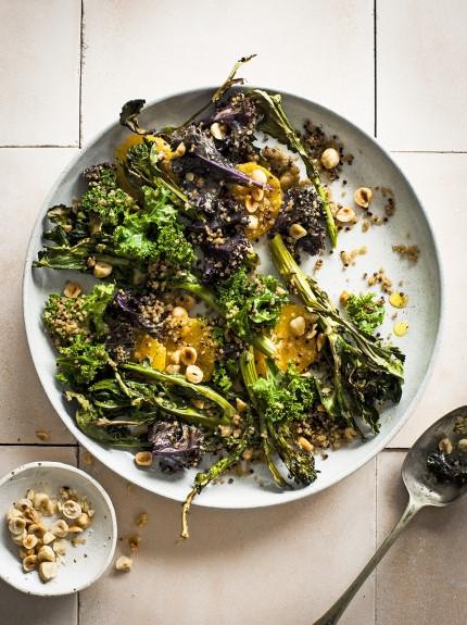 Warm Winter Salad - broccoli