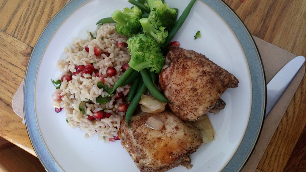 Persian Chicken with Pomegranate Rice