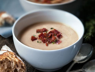 Chestnut, Bacon and Parsnip Soup