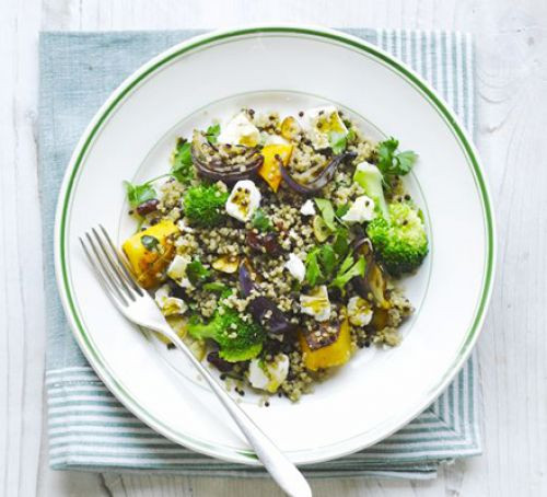 Quinoa, Squash and Broccoli Salad