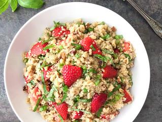 Strawberry and Basil Quinoa