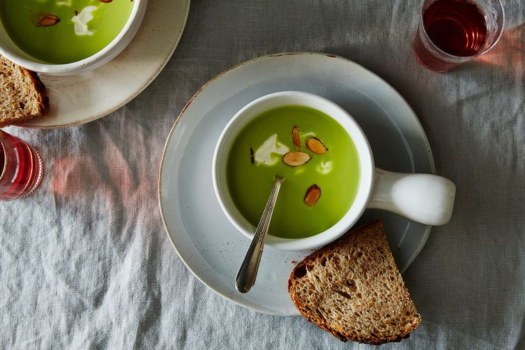 chilled asparagus and almond soup recipe