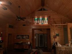 Above the door in the great room in East Texas