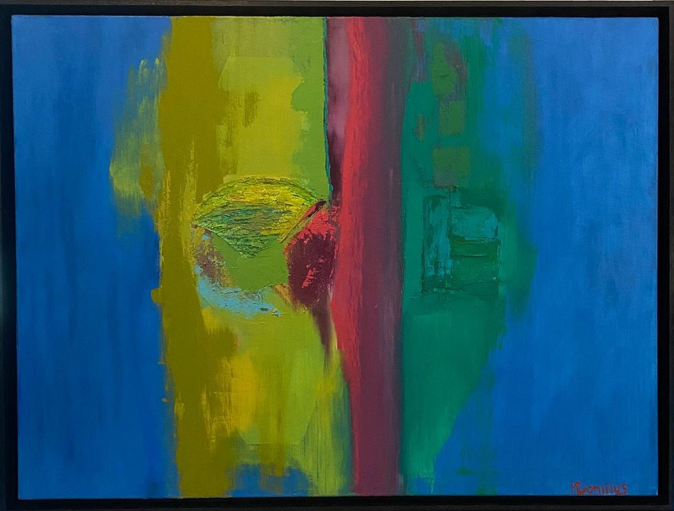 Mascara 31 x 42 framed, oil on canvas