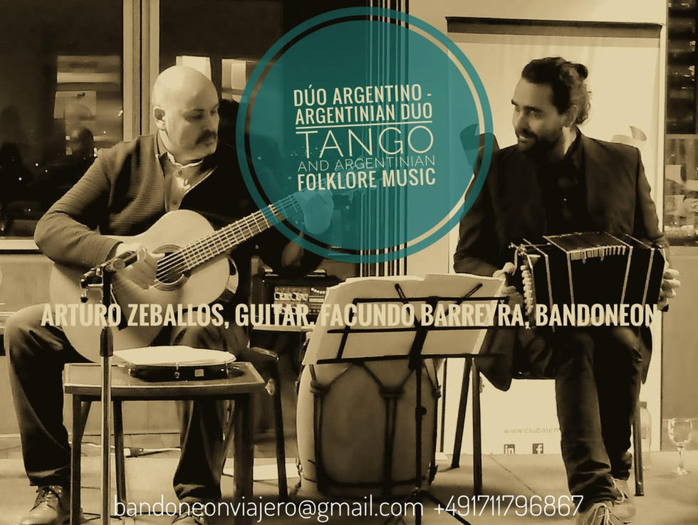 Argentinian Duo with Arturo Zeballos & Facundo Barreyra