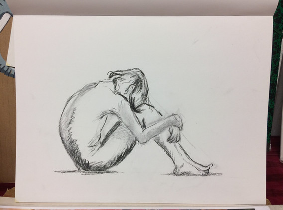 Crayon et encre