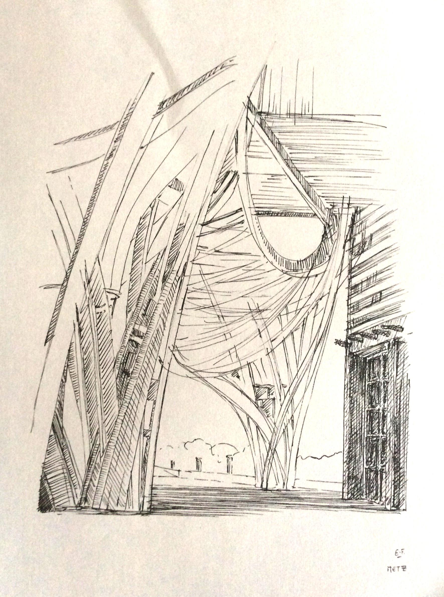Pompidou Metz feutre