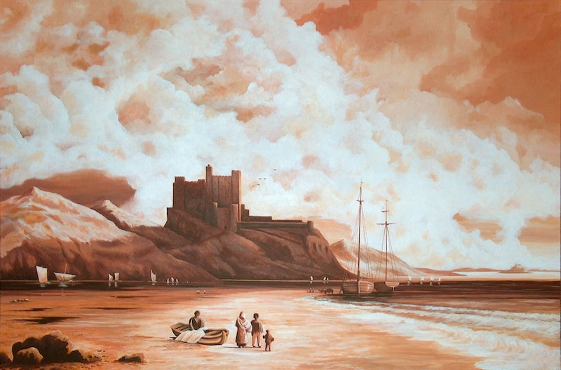 Bamburgh Castle Acrylique 100x150