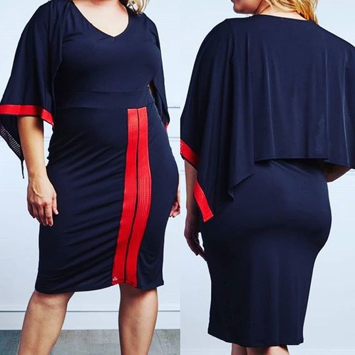 Red and Black Plus Size Dress