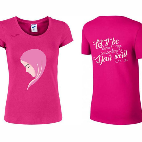 Camiseta Dama color rosa.  C008 Dólares. Tallas reducidas