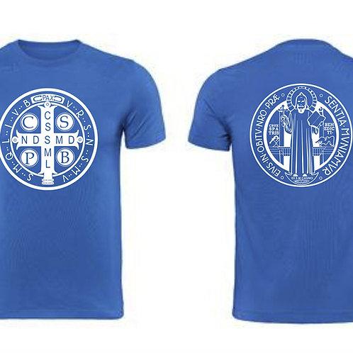 Camiseta Caballero de la medalla de San Benito.  C014 Dólares. Tallas reducidas