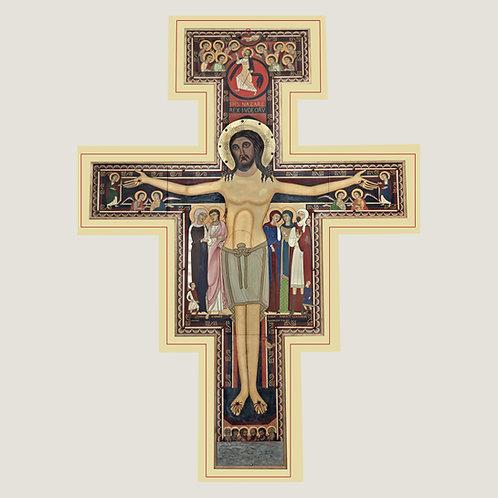 Cruz de San Francisco con Oración de Sanación V004 Dólares
