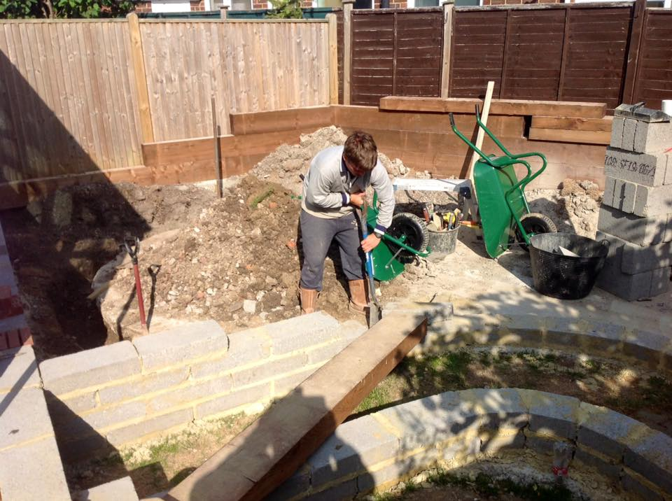 DIGGING TRENCHES FOR SLEEPERS