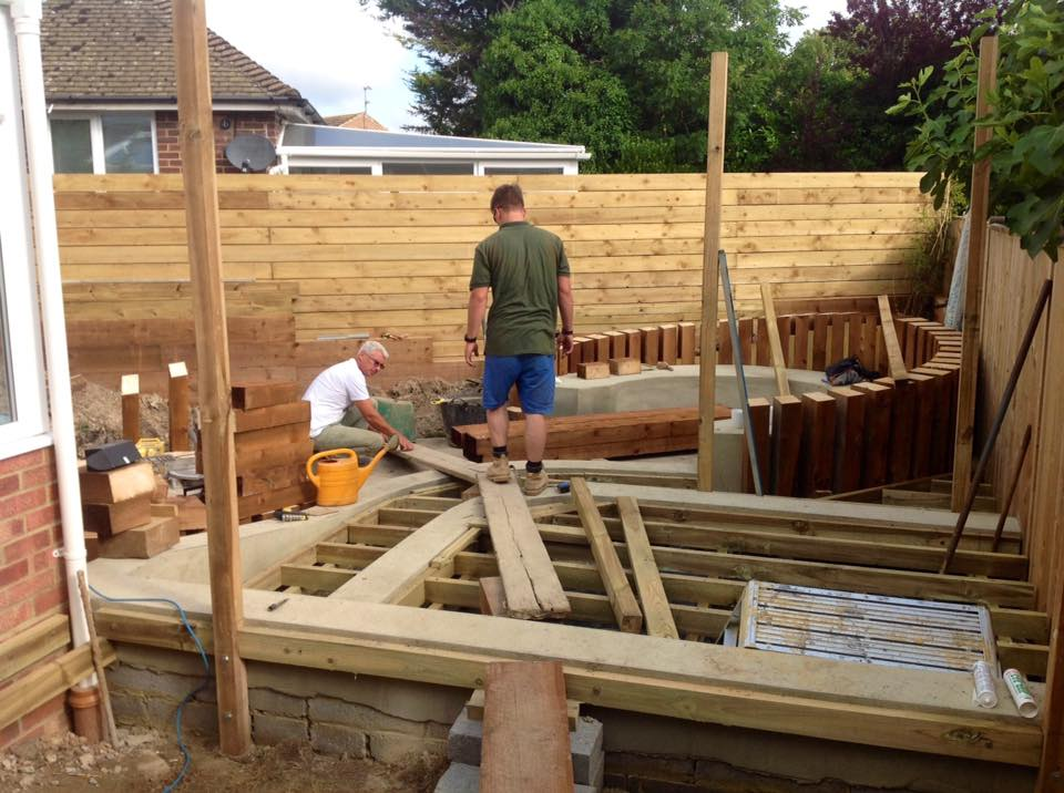 BUILDING THE DECKING