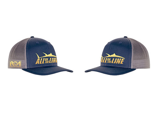 AOTL Blue Fin Tuna Snap Back Trucker Hat
