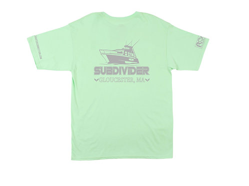 """""""All On The Line"""" FV Subdivider Short Sleeve Right Coast Lime  Pocket Tee"""