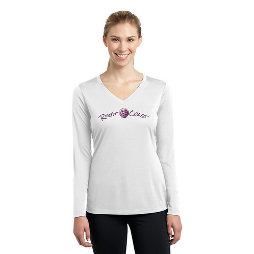 P Shell Ladies V-neck Dry Fit White
