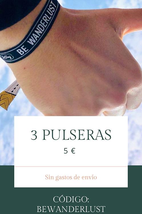 3 PULSERAS 5€
