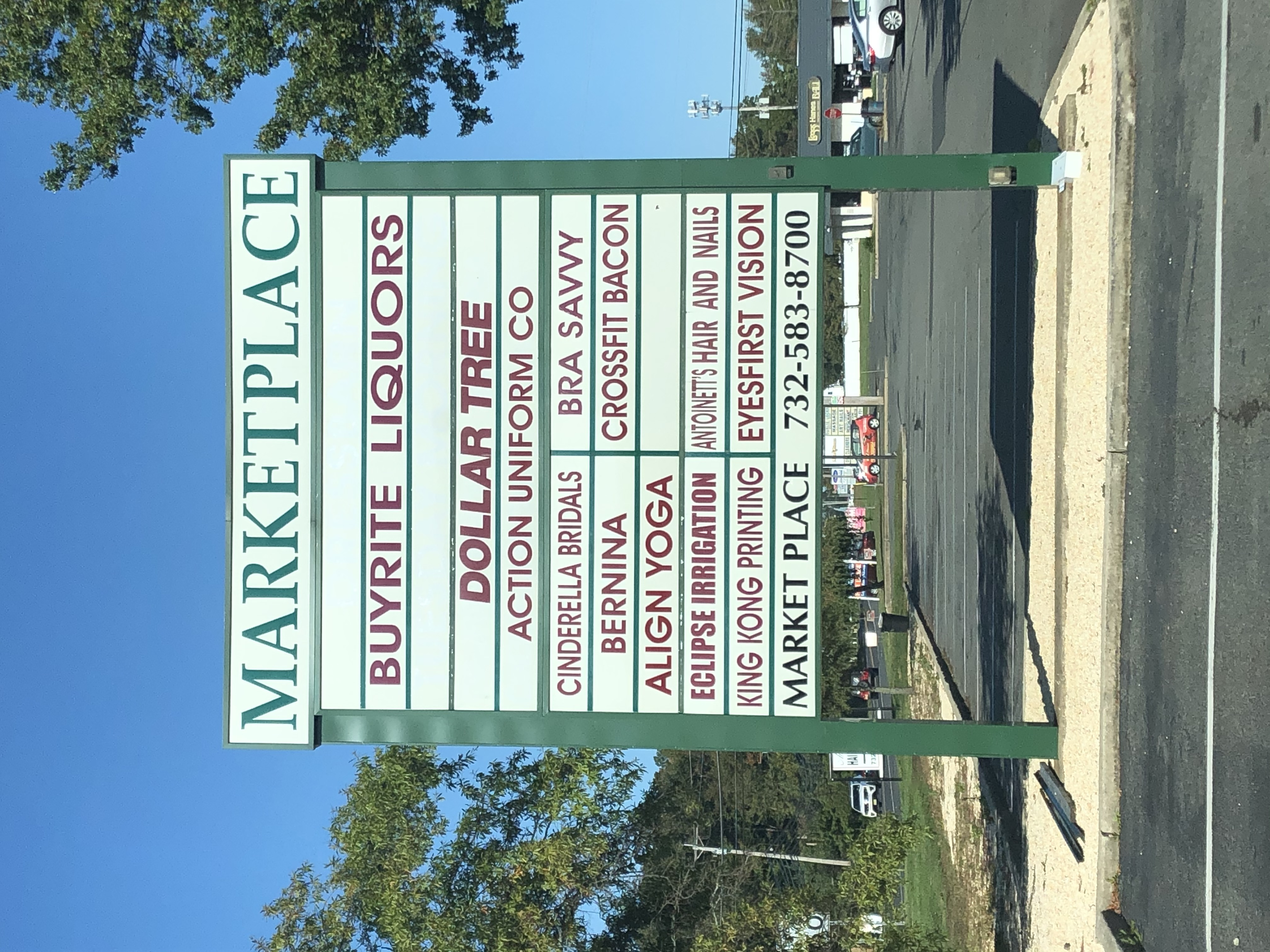Marketplace Sign