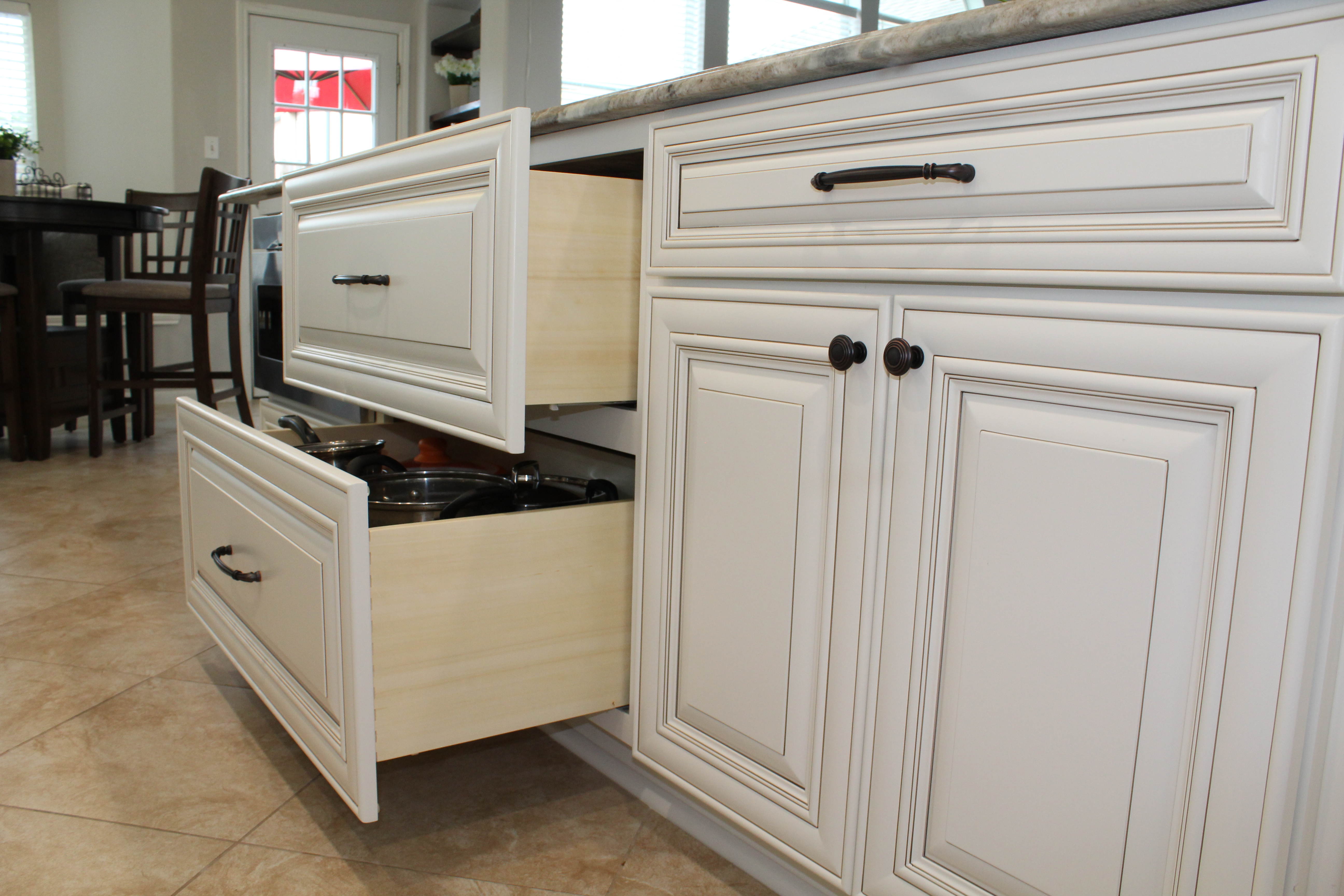 Vintage Oatmeal Cabinetry