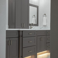 TX Collection - TX Shaker Grey Paired with Vicostone Greylac Quartz