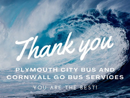 £1000 donation from Plymouth City Bus and Cornwall Go bus services