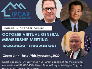 October Virtual Membership Meeting