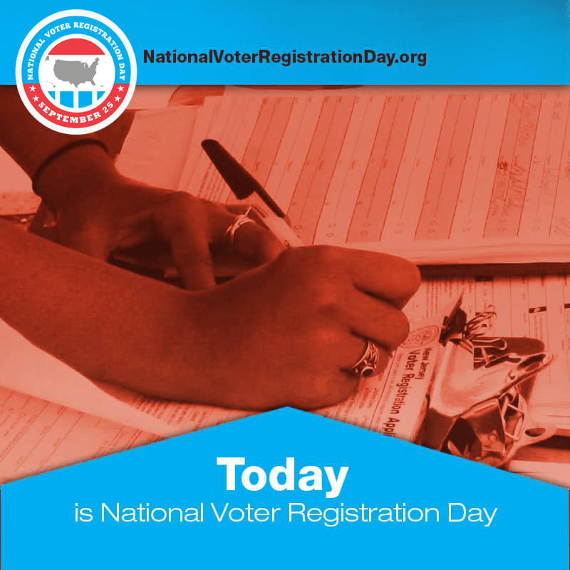 Celebrate #NationalVoterRegistrationDay by registering to vote online! It takes two minutes