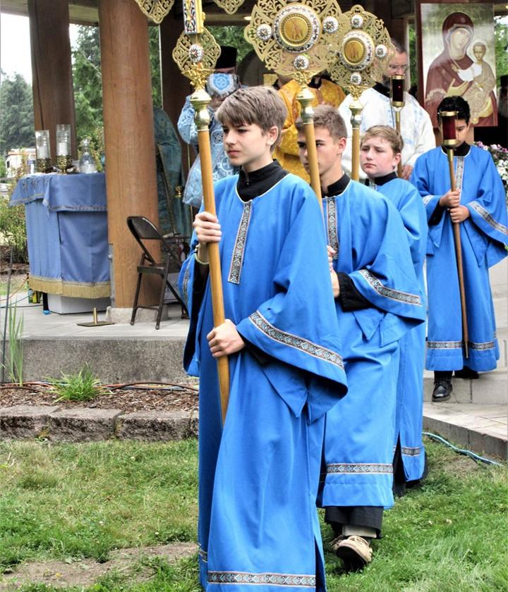 Boys after costume change: St.George altar servers.