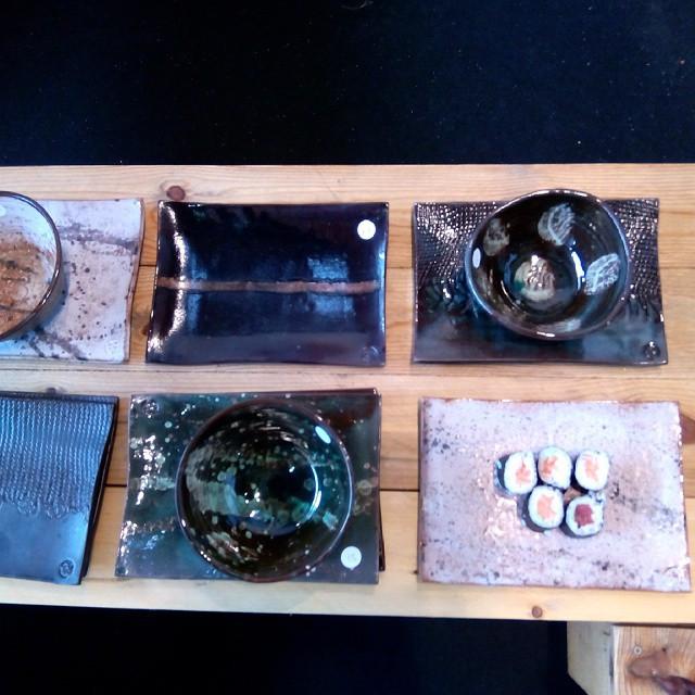 Instagram - Bandejas con makis Ceramica#ceramicart#japan